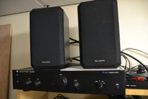 Cambridge audio amplifier and speakers