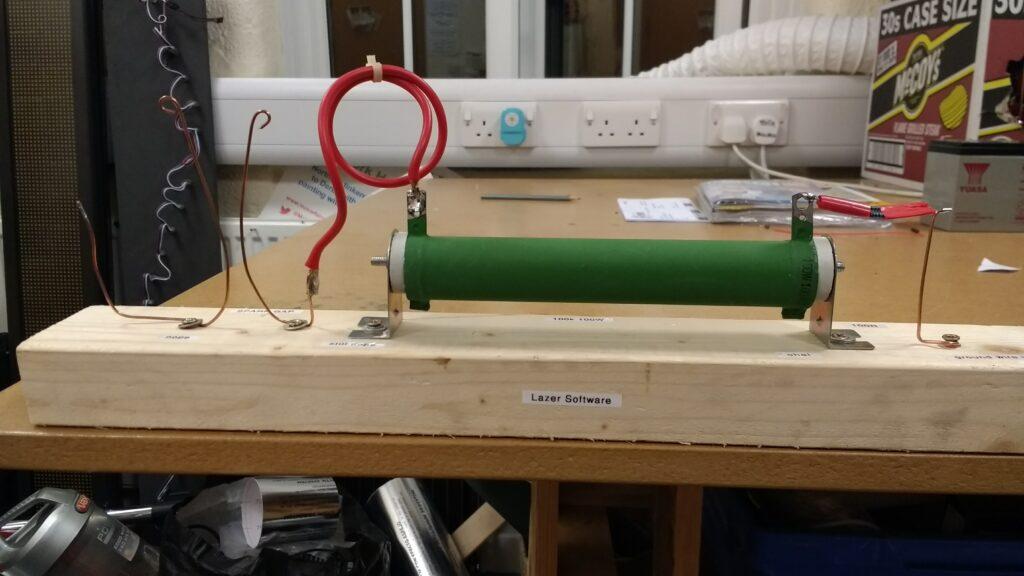Laser test hardware