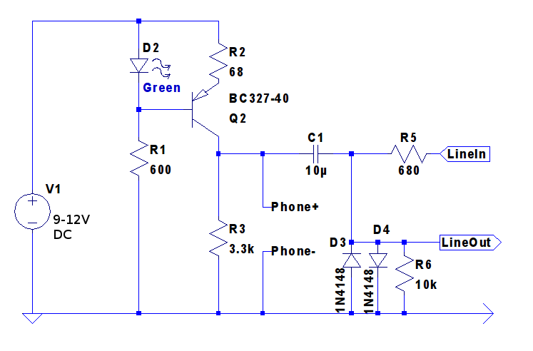 Line Simulator Circuit Schematic