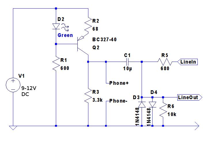 Line Simulator Circuit Schematic