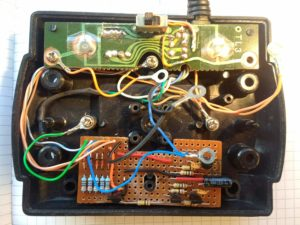 Joystick base with new autofire board fitted
