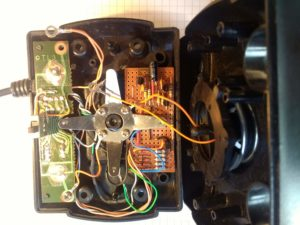 Joystick with components refitted
